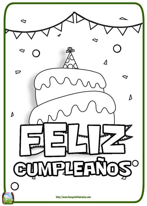 imagenes para colorear feliz cumpleaños dibujos para colorear cumplea 241 os abuela ideas creativas