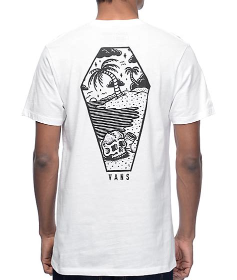 vans x sketchy tank sketched out white t shirt zumiez