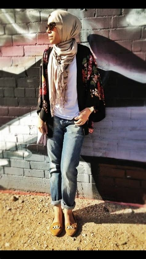 latest casual hijab styles  jeans   trends