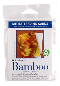 strathmore cards templates strathmore artist trading card pack of 10 bamboo paper