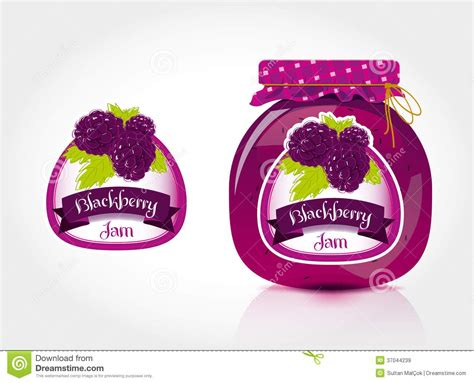 themes blackberry jar blackberry jam label with jar royalty free stock images