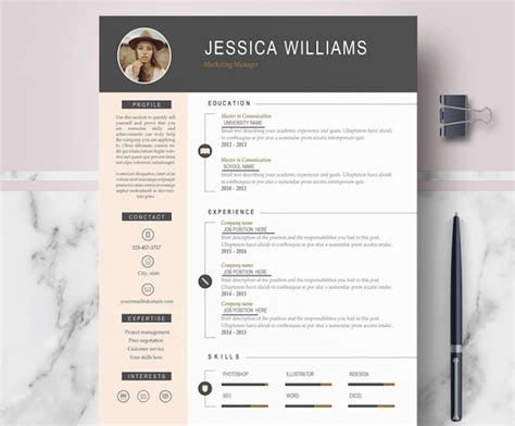 modern cv format in word 50 best resume templates for word that look like photoshop designs