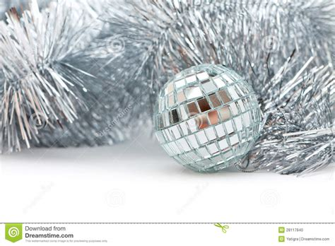 christmas shiny garland and ball stock photo image 28117840