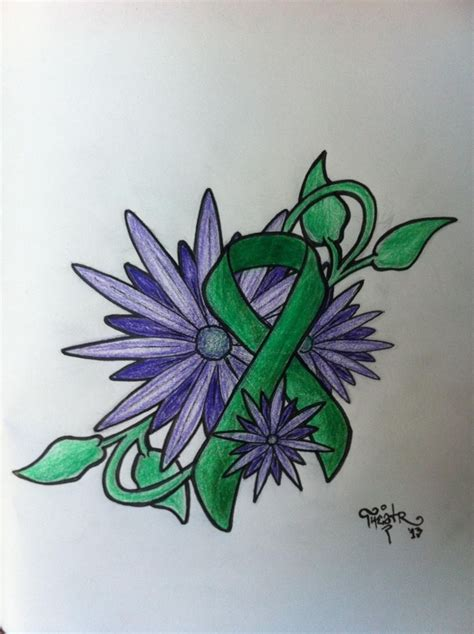 green ribbon tattoo 1000 images about tattoos on