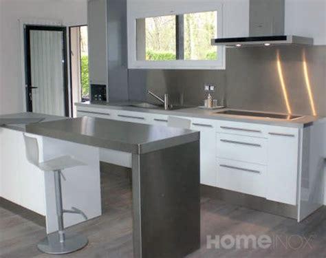 plan de travail inox cuisine cuisine design inox et bois laqu 233