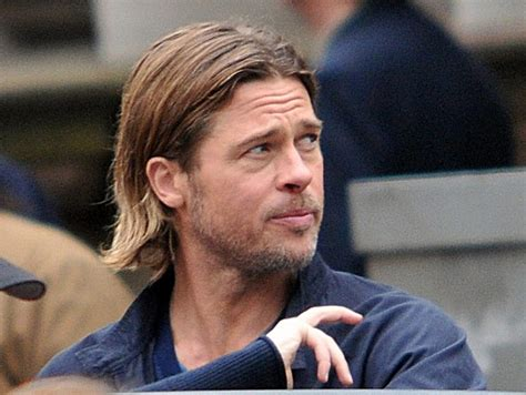 brad pitt world war z hair length how to get brad pitt s fury hairstyle pompadour hair cut