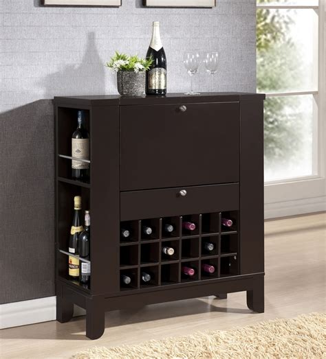 Modesto Brown Modern Dry Bar And Wine Cabinet Interior Bars Furniture Modern
