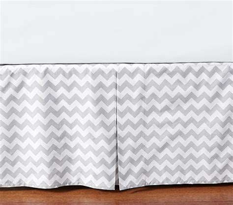 chevron crib skirt pottery barn
