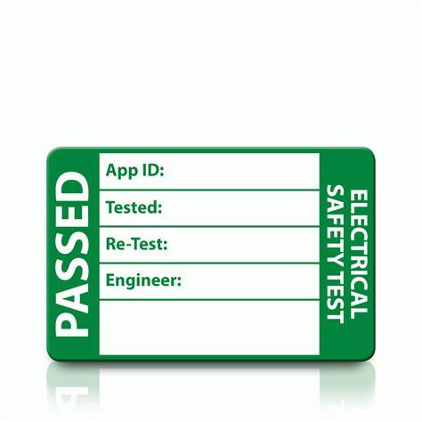 Medium Passed Pat Test Labels Pat Labels Online Test Label Template