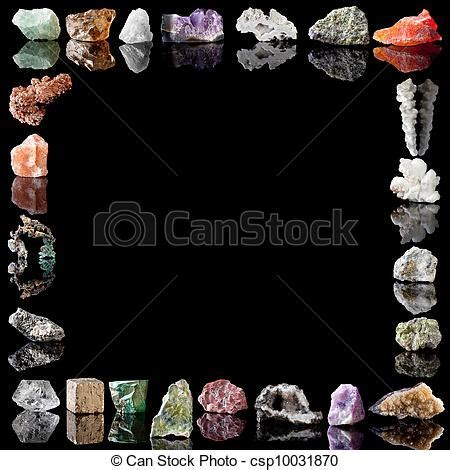 Picture of Minerals metals and gemstones   Border image of
