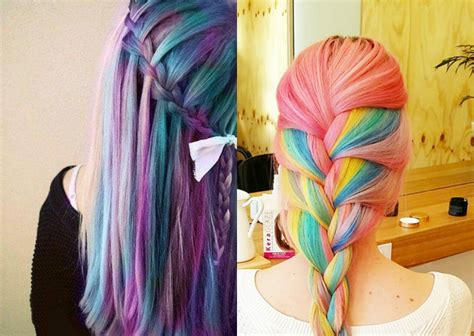 multi colored braids striking multi colored braids hairstyles hairdrome