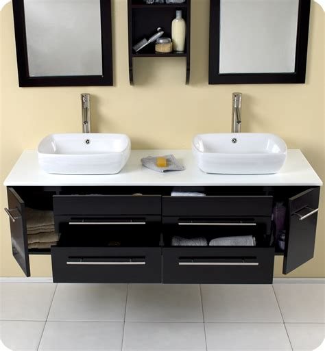 modern double sink bathroom vanities fresca bellezza espresso modern double vessel sink