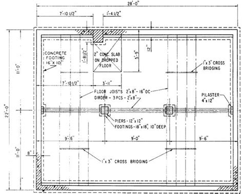 foundation floor plan foundation plan drawing