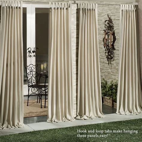 outdoor draperies curtains matine indoor outdoor tab top curtain panels