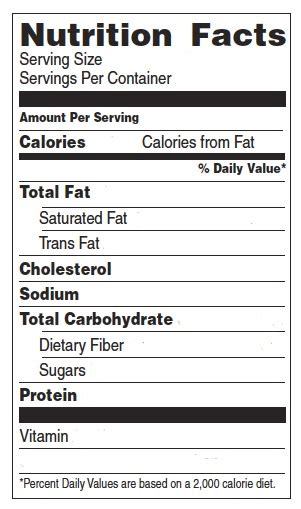 Nutrition Label Template Playbestonlinegames Nutrition Facts Template