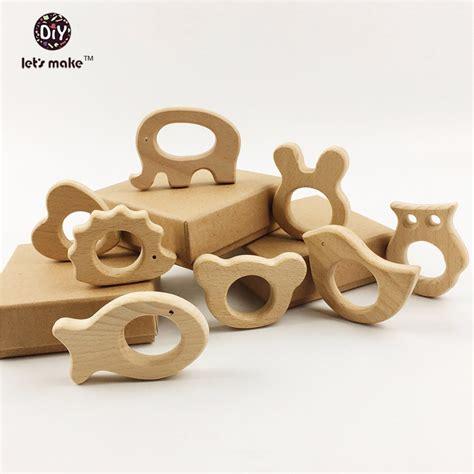 Handmade Wooden Baby Toys - wood baby teether eco friendly nursing baby teething