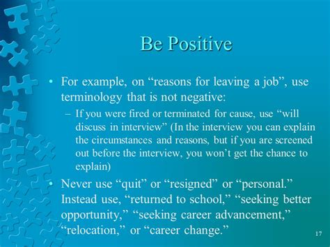 reason for leaving job on resume samples of resumes