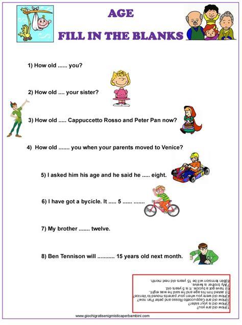 test d ingresso francese scuola media esercizi inglese eta age esercizi in inglese