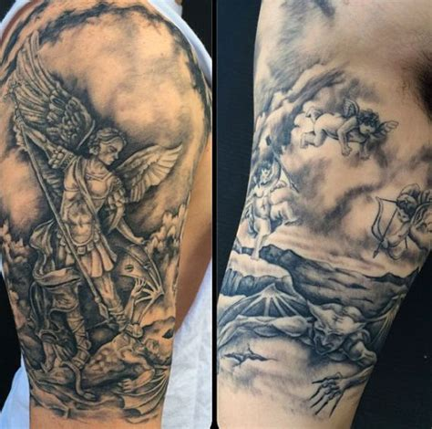 st michael sleeve tattoo designs 41 best archangel tattoos designs with meanings