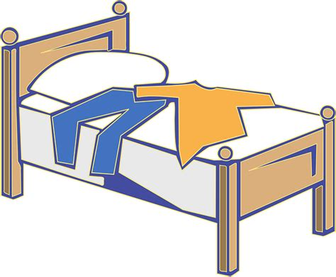bed clipart bed empty pillow 183 free vector graphic on pixabay