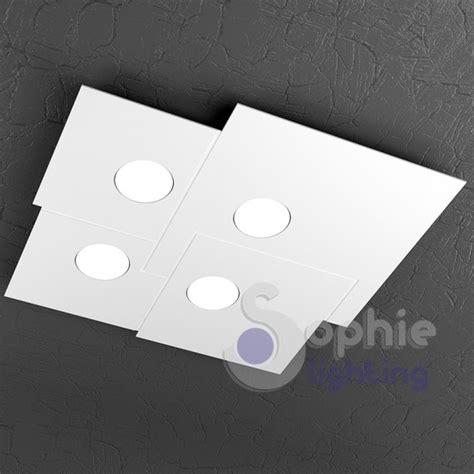 plafoniera bagno design plafoniera led quadrata design moderno acciaio bianco bagno
