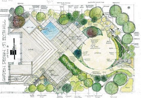 garden design drawing t8ls
