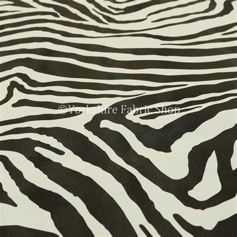 zebra fabric for upholstery zebra print animal faux leather vinyl black white stripe