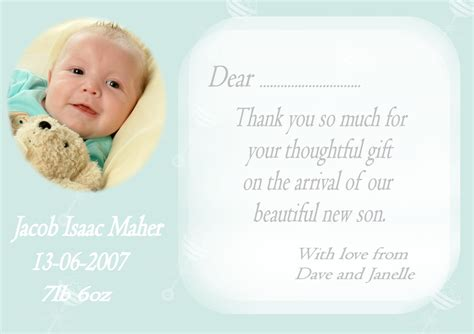 Thank You Card Baby Gift - impressive writing baby gift thank you cards slot breathtaking smiling photo moment