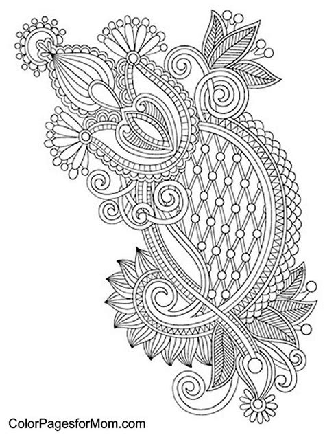 abstract paisley coloring pages paisley abstract doodle zentangle coloring pages colouring