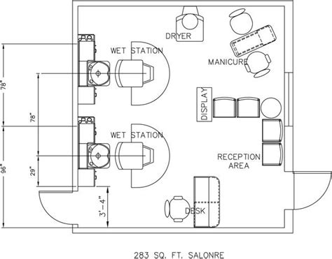 Hair Salon Floor Plan | beauty salon floor plan design layout 283 square foot