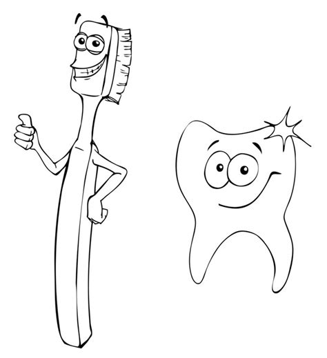 free printable tooth coloring page