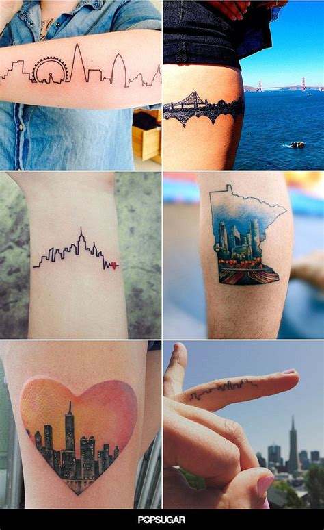 ink city tattoos 32 city skyline tattoos that prove home is where your ink