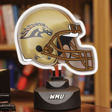 western michigan broncos ncaa college neon