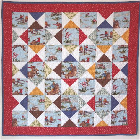 Cowboy Quilt Pattern by Yeehaww Its A Cowboy Quilt Cluck Cluck Sew