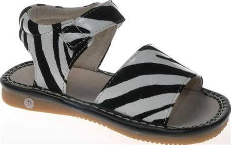 squeaky sandals leather zebra print squeaky sandals toddler size 1 7 size