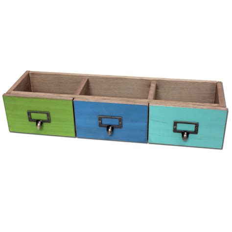 Drawer Set by Salvaged Turquoise Blue Green 3 Drawer Set By Bci Crafts