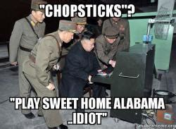 chopsticks play sweet home alabama idiot