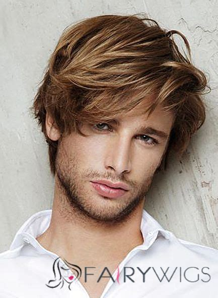 8 inch brown capless 100 indian remy hair mens wigs