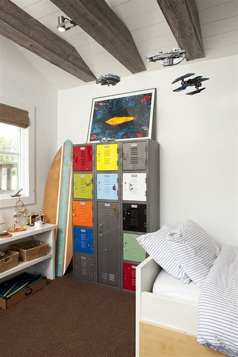 boys room storage 10 ideas to use lockers as kids room storage kidsomania