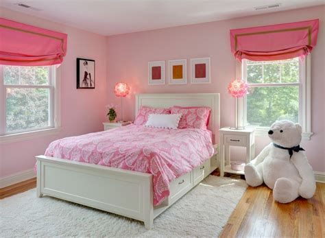 girls bedroom l shades pleasing hot pink girls room kids transitional with walls