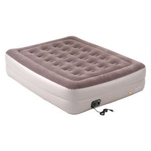 coleman size raised air bed with built in sears