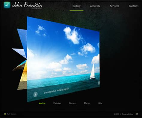 best flash photo gallery website templates entheos
