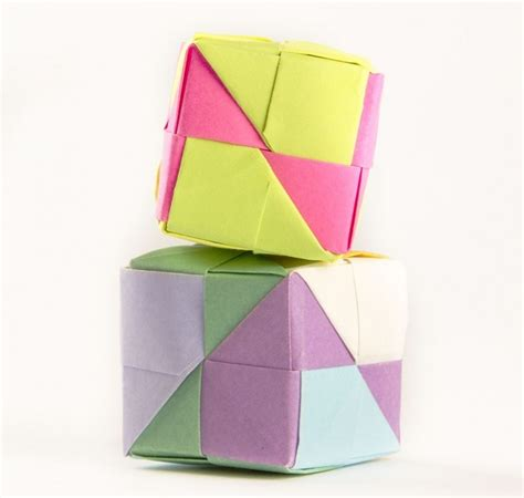 Origami Melbourne - modular origami cube join me for a workshop on sunday