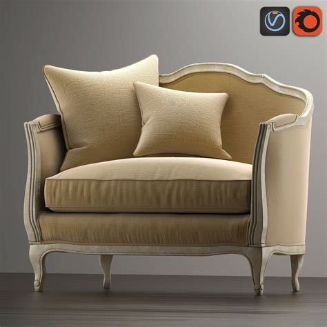 salon bench 3d model sofa mini ondine salon bench vr ar low poly