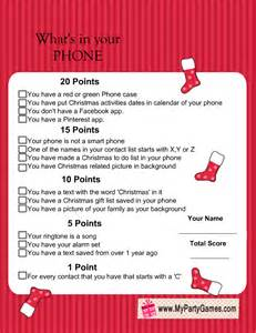 phone free printable christmas game