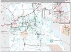 polk county fl zip code wall map premium style by marketmaps