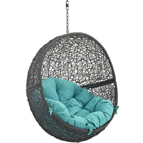 hide outdoor patio swing chair gray  modway choice  color