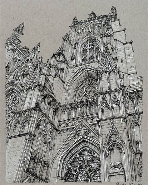 B Arch Sketches by Cathedral Sketchbook Illustration By Phoebe Atkey
