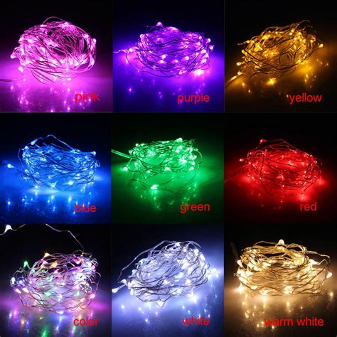 topled 5m 50 led christmas light holiday led battery