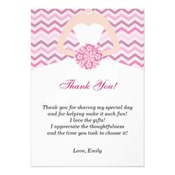 chevron pink bridal shower thank you card 5 quot x 7 quot invitation card zazzle